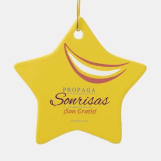 Sonríe! Ceramic Ornament
