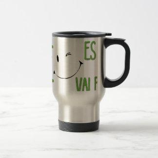 Sonrie, es gratis, vale la pena 15 oz stainless steel travel mug