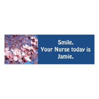 Sonríe su enfermera es hoy tarjetas de visita de