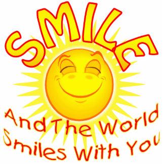 Sonríen y las sonrisas del mundo con usted (v2) escultura fotográfica