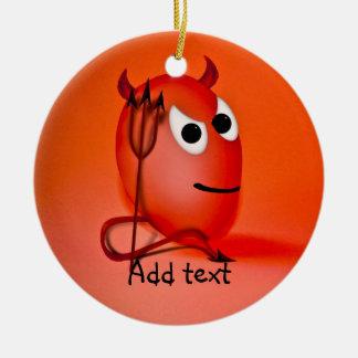 Sonriendo poco huevo de Devil'ed Ornaments Para Arbol De Navidad