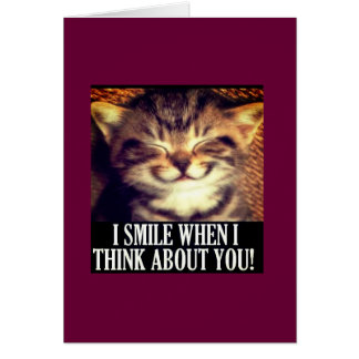 Sonrío cuando pienso en usted tarjeta de felicitación