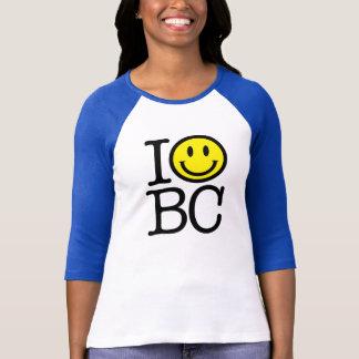 Sonrío la camisa cabida del béisbol de BC Mujer -