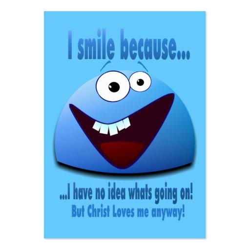 Sonrío porque… de la zona V2 las tarjetas/ Tarjetas De Visita Grandes