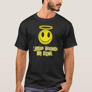 Sonrío porque soy amarillo correcto playera