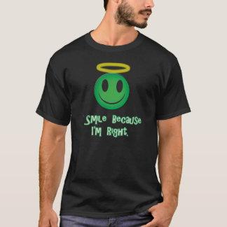 Sonrío porque soy verde correcto playera