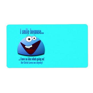 Sonrío porque… V2 Etiqueta De Envío