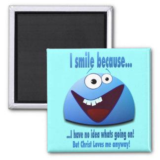 Sonrío porque… V2 Imán Cuadrado