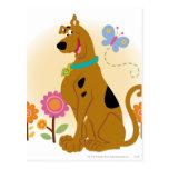 Sonrisa abierta boca de Scooby Postal