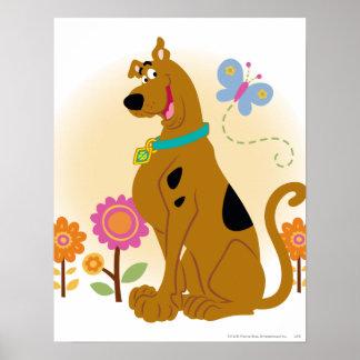 Sonrisa abierta boca de Scooby Póster