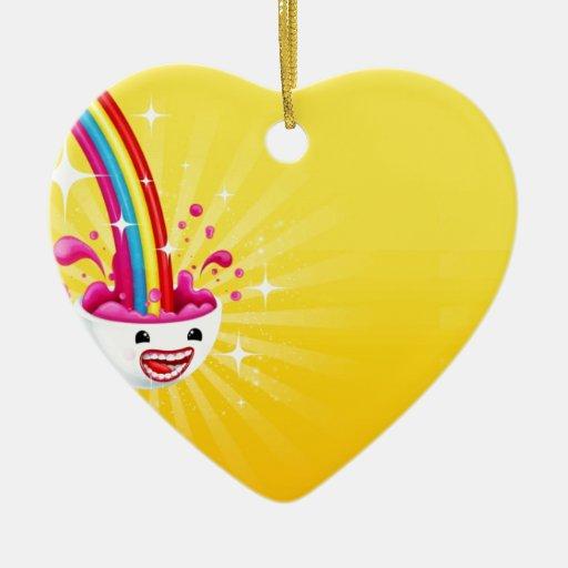 Sonrisa abstracta del arco iris ornamento para arbol de navidad
