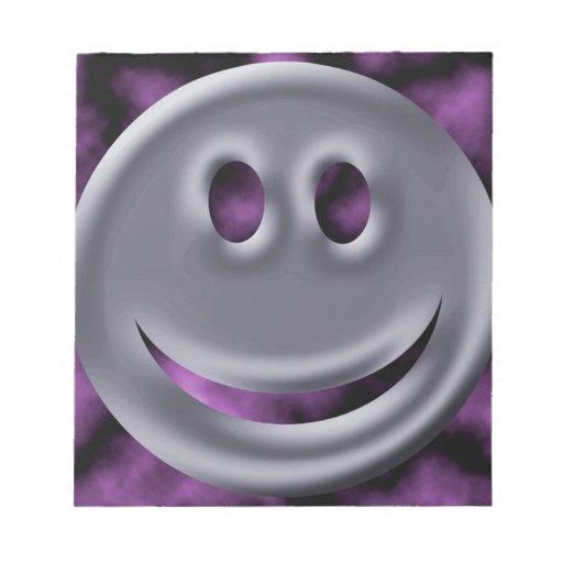 Sonrisa abstracta del cromo de los colores bloc