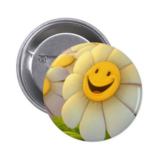 Sonrisa alegre de las flores pin