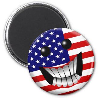 sonrisa americana imán de frigorifico
