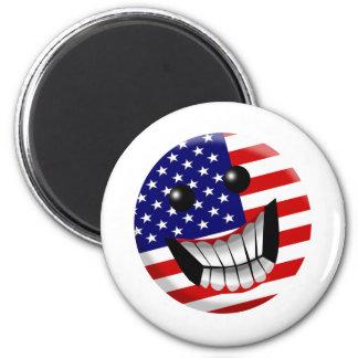 sonrisa americana imán para frigorifico
