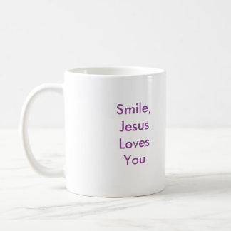 ¡Sonrisa, amor de Jesús usted! Taza