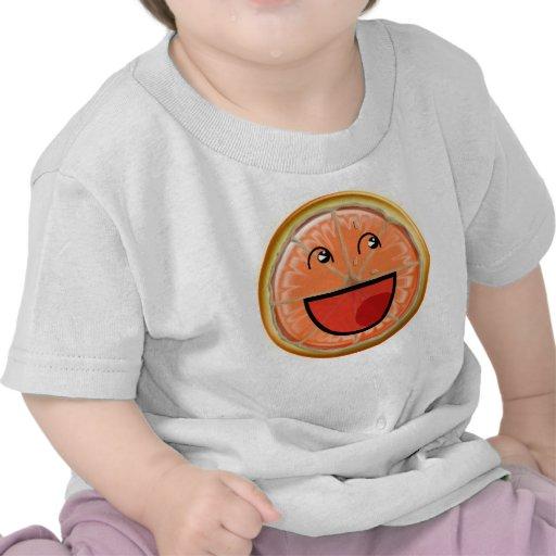 sonrisa anaranjada camisetas