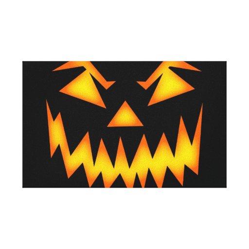 Sonrisa asustadiza de Halloween Impresion De Lienzo