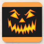 Sonrisa asustadiza de Halloween Posavasos De Bebida