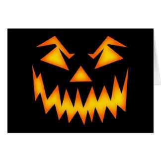 Sonrisa asustadiza de Halloween Tarjeta De Felicitación