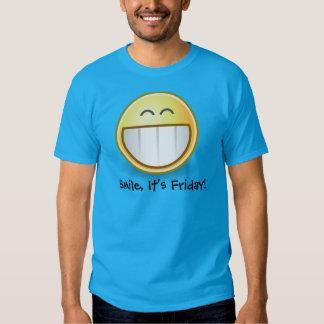 """"""" Sonrisa azul, es la camiseta de los hombres Remera"""