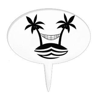 sonrisa blk.png de la playa de la hamaca de la pal figuras para tartas