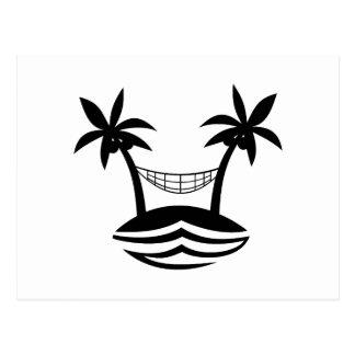 sonrisa blk.png de la playa de la hamaca de la pal postal