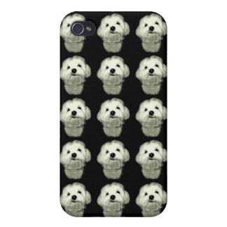 Sonrisa boba blanco y negro iPhone 4 cárcasa