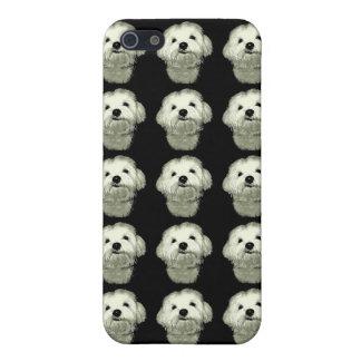 Sonrisa boba blanco y negro iPhone 5 carcasas