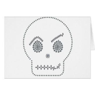 Sonrisa boba del cráneo tarjeta de felicitación