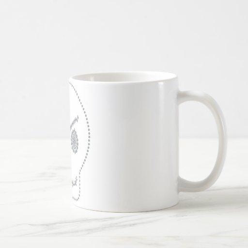 Sonrisa boba del cráneo tazas de café