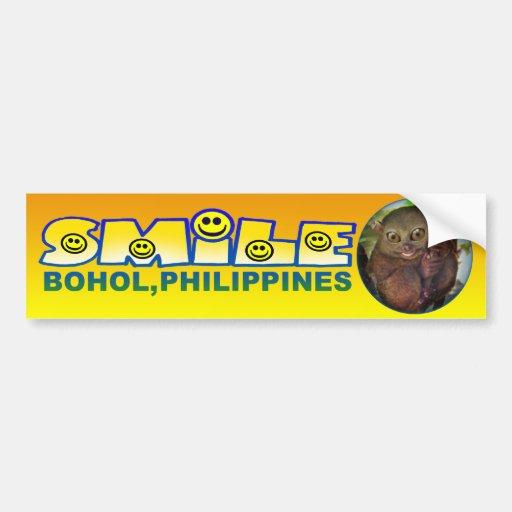 Sonrisa Bohol 2 Etiqueta De Parachoque