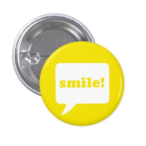 """""""sonrisa!"""" botón pins"""