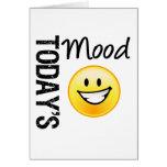 Sonrisa brillante del Emoticon de hoy del humor Tarjetas
