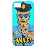 ¡SONRISA! Caja enojada del poli iPhone 5 Cobertura