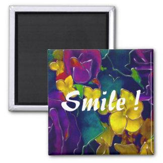Sonrisa colorida iman para frigorífico