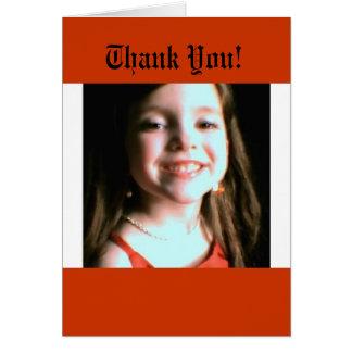 Sonrisa de gracias tarjeta de felicitación
