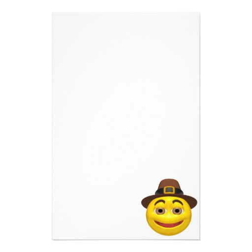 Sonrisa de la acción de gracias papeleria de diseño