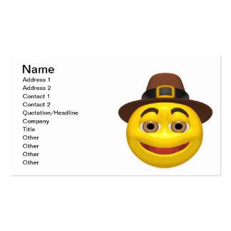 Sonrisa de la acción de gracias plantilla de tarjeta de negocio