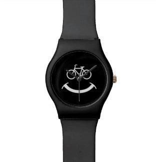 Sonrisa de la bicicleta relojes de mano