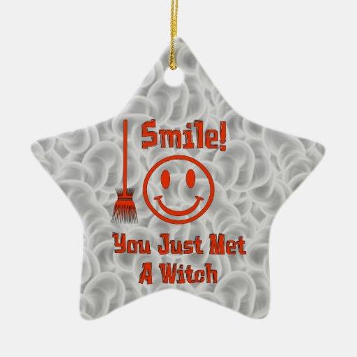 Sonrisa de la bruja adorno de navidad