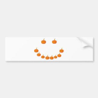 Sonrisa de la calabaza etiqueta de parachoque