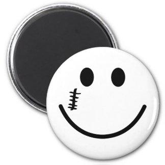 Sonrisa de la caracortada imán redondo 5 cm