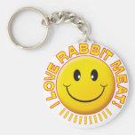 Sonrisa de la carne del conejo llavero personalizado