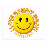 Sonrisa de la carne del conejo postal