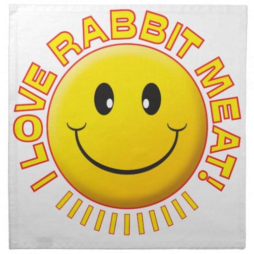 Sonrisa de la carne del conejo servilletas imprimidas