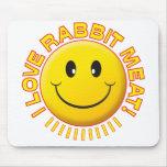 Sonrisa de la carne del conejo tapetes de ratones
