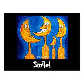 Sonrisa de la familia tarjeta postal