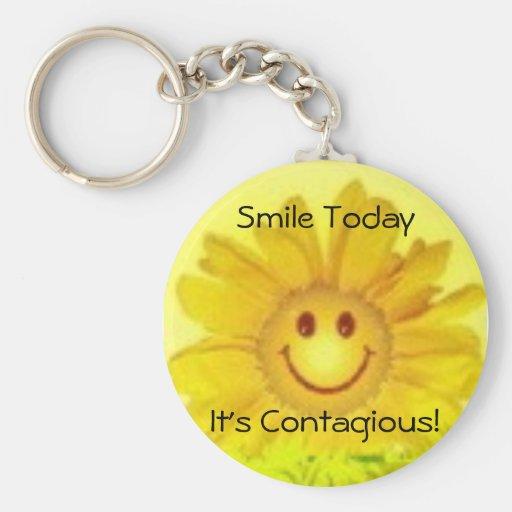 ¡sonrisa de la flor, sonrisa TodayIt contagioso! Llavero