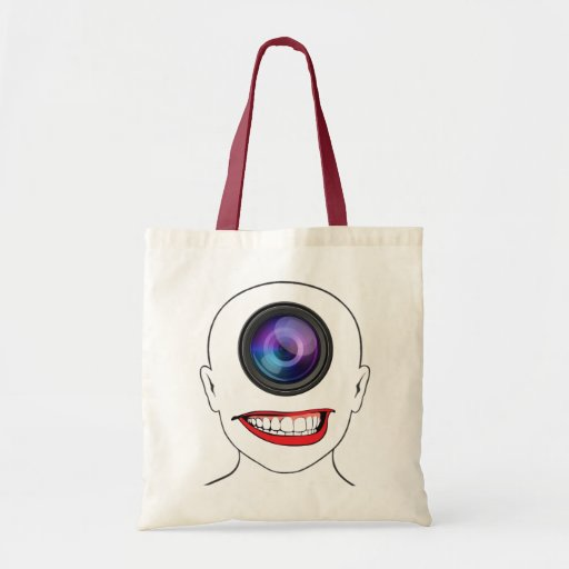 Sonrisa de la lente bolsa tela barata